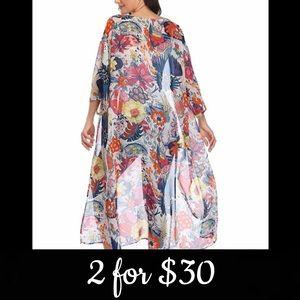 🆕 Botanical Garden Kimono/Cardigan/Coverup